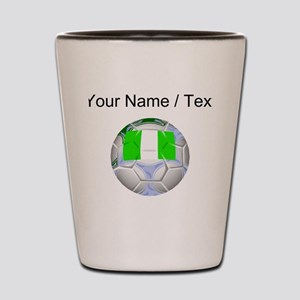 Custom Nigeria Soccer Ball Shot Glass