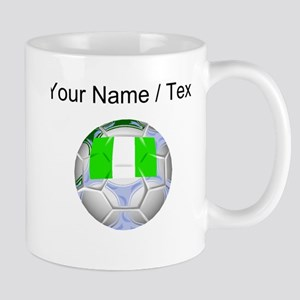 Custom Nigeria Soccer Ball Mugs