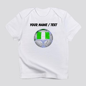 Custom Nigeria Soccer Ball Infant T-Shirt