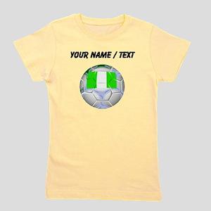 Custom Nigeria Soccer Ball Girl's Tee