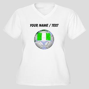 Custom Nigeria Soccer Ball Plus Size T-Shirt