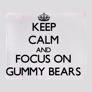 Keep Calm by focusing on Gummy Bears Throw Blanket