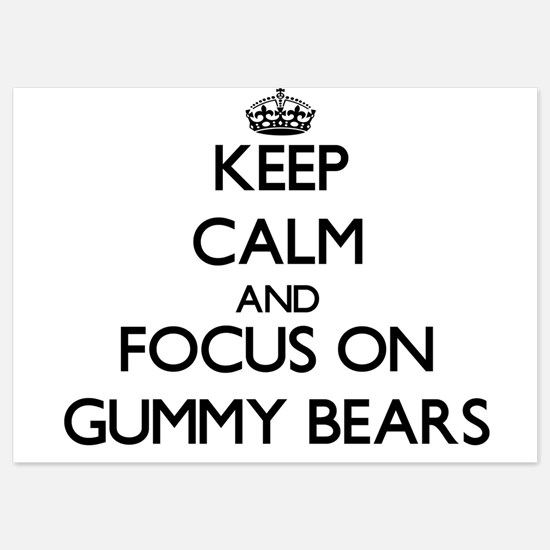 Keep Calm by focusing on Gummy Bears Invitations