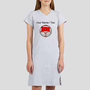 Custom Morocco Soccer Ball Women's Nightshirt