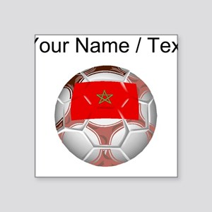 Custom Morocco Soccer Ball Sticker