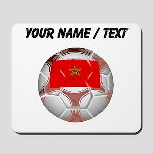 Custom Morocco Soccer Ball Mousepad
