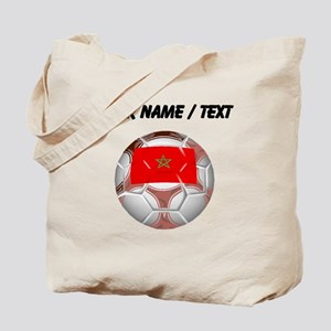 Custom Morocco Soccer Ball Tote Bag
