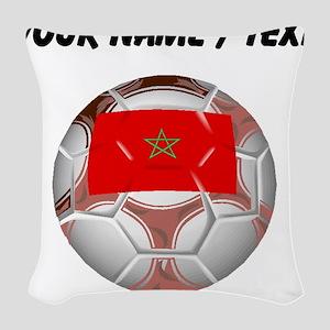 Custom Morocco Soccer Ball Woven Throw Pillow
