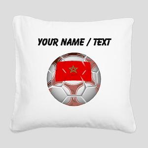 Custom Morocco Soccer Ball Square Canvas Pillow