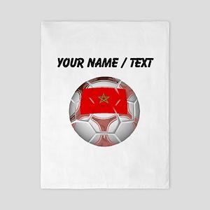 Custom Morocco Soccer Ball Twin Duvet