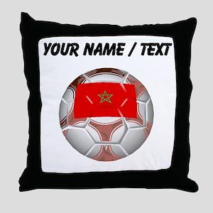 Custom Morocco Soccer Ball Throw Pillow