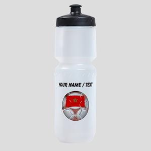 Custom Morocco Soccer Ball Sports Bottle