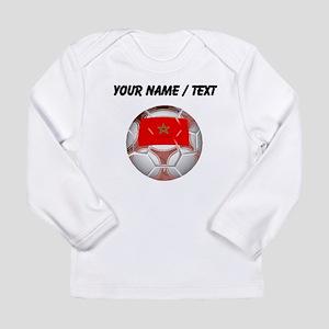 Custom Morocco Soccer Ball Long Sleeve T-Shirt