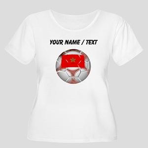 Custom Morocco Soccer Ball Plus Size T-Shirt