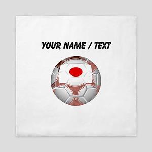 Custom Japan Soccer Ball Queen Duvet
