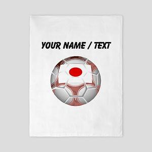Custom Japan Soccer Ball Twin Duvet