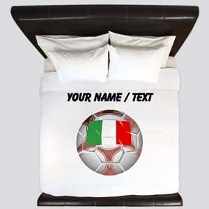 Custom Italy Soccer Ball King Duvet