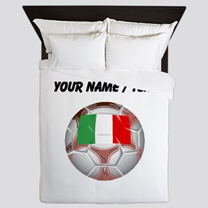Custom Italy Soccer Ball Queen Duvet