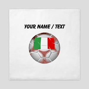 Custom Italy Soccer Ball Queen Duvet