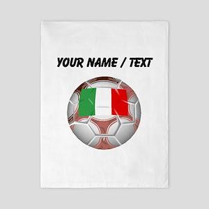 Custom Italy Soccer Ball Twin Duvet