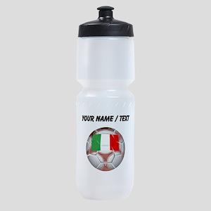 Custom Italy Soccer Ball Sports Bottle