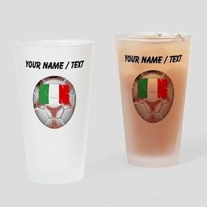 Custom Italy Soccer Ball Drinking Glass
