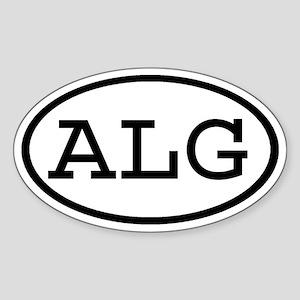 ALG Oval Oval Sticker