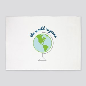The World Is Yours 5 X7 Area Rug