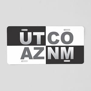 Four Corners Aluminum License Plate