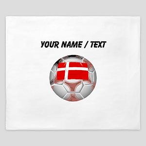 Custom Denmark Soccer Ball King Duvet