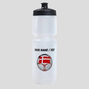 Custom Denmark Soccer Ball Sports Bottle