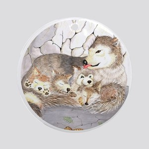 Wolf cubs Christmas Ornament