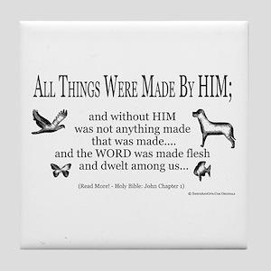 Christian Scripture Tile Coaster