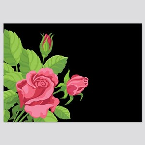Night Rose- 5x7 Flat Cards Invitations