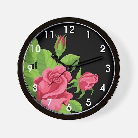 Night Rose- Wall Clock