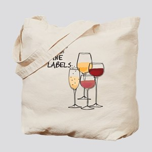 my book club only reads WINE LABLES Tote Bag