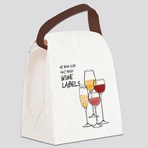 my book club only reads WINE LABLES Canvas Lunch B