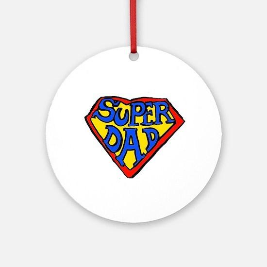 Superdad Ornament (Round)
