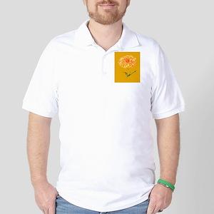Botanical Yellow Dahlia Golf Shirt