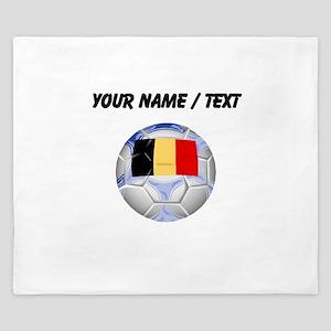 Custom Belgium Soccer Ball King Duvet