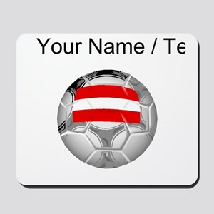 Custom Austria Soccer Ball Mousepad