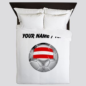 Custom Austria Soccer Ball Queen Duvet