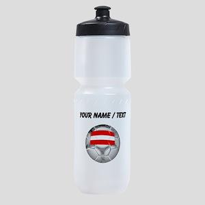 Custom Austria Soccer Ball Sports Bottle