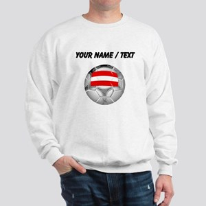 Custom Austria Soccer Ball Sweatshirt