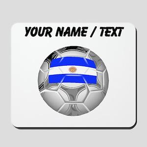 Custom Argentina Soccer Ball Mousepad