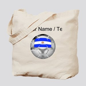 Custom Argentina Soccer Ball Tote Bag