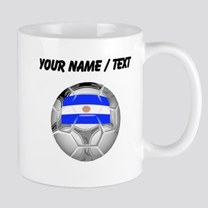 Custom Argentina Soccer Ball Mugs