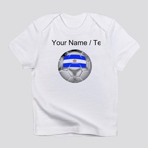 Custom Argentina Soccer Ball Infant T-Shirt