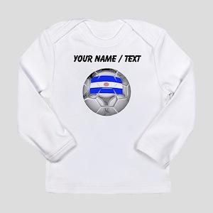 Custom Argentina Soccer Ball Long Sleeve T-Shirt