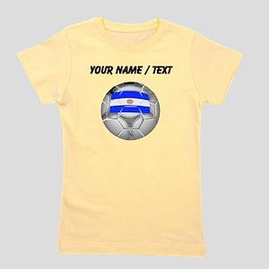 Custom Argentina Soccer Ball Girl's Tee